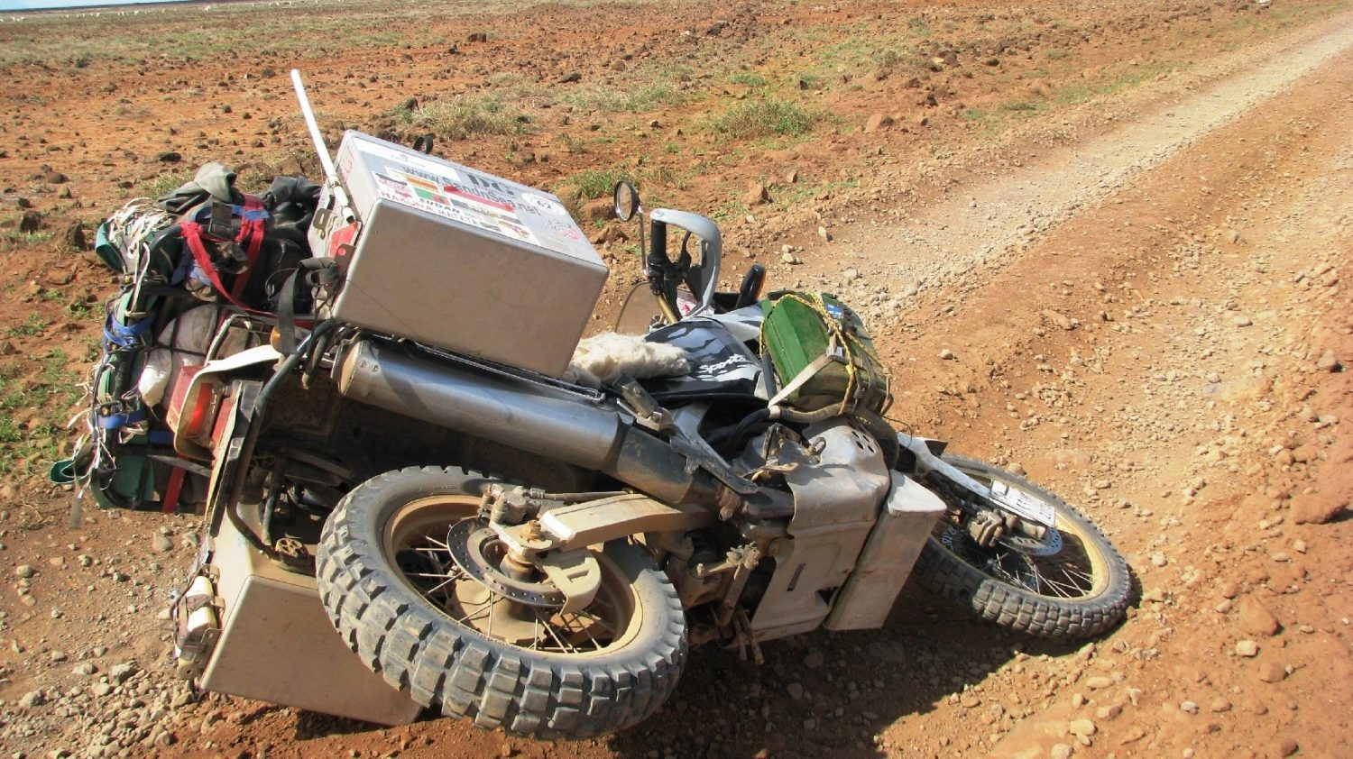 Lifting a dropped motorcycle