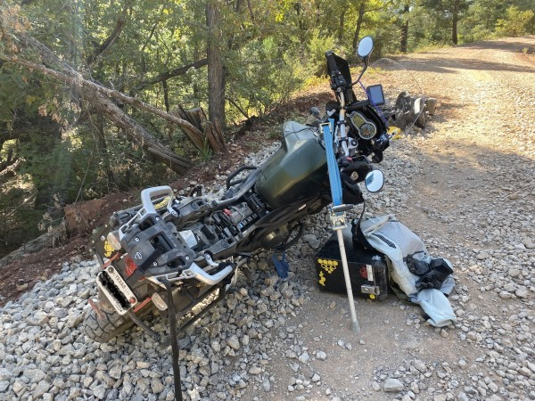 lifting a dropped motorcycle 1